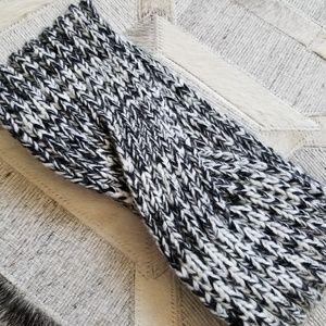 Black & White Marled Knit Headband